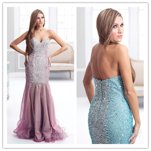 Aliexpress.com : Buy Fabulous Designer Sexy Crystals Beaded Prom Dresses 2014 Off Shoulder Sweetheart Purple Blue Mermaid Pageant Women Party Gown from Reliable gown photos suppliers on Suzhou Babyonlinedress Co.,Ltd