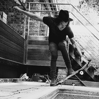 hat harry styles black and white
