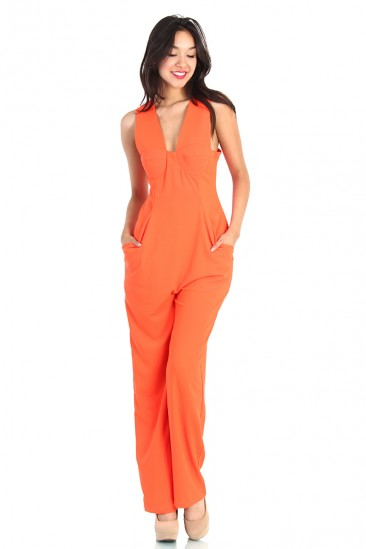 LoveMelrose.com From Harry & Molly | QUEEN ORANGE JUMPSUIT