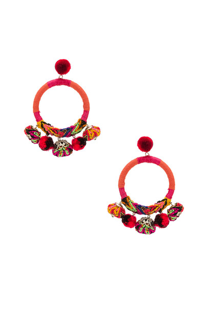 earrings orange jewels