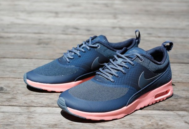 shoes, nike air max thea navy blue atomic pink - Wheretoget