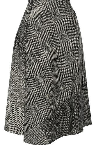 skirt jacquard wool black