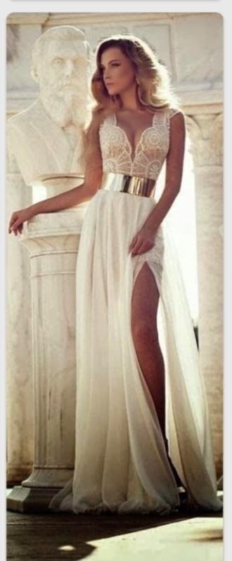 dress prom dress long dress white dress