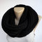 Black knit scarf unisex chunky men scarf ,women scarves ,neckwarmer - cowl neck ,winter fashion accessories , wool acrylic senoaccessory