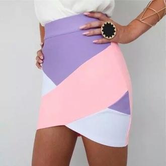 skirt color blocks pastel goth pastel skirt pastel  skirt pink skirt