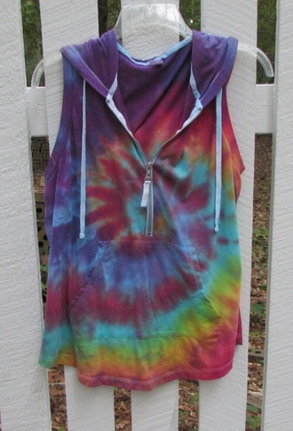 jacket hoodie sweater pullover cold shoulder tie dye zip pink blue yellow purple green off the shoulder off the shoulder sweater tie dye shirt tie dye sweater