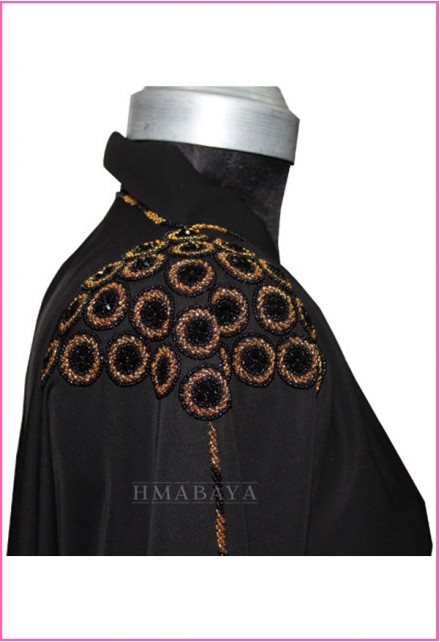 Embroidery Designs Black Women Abaya