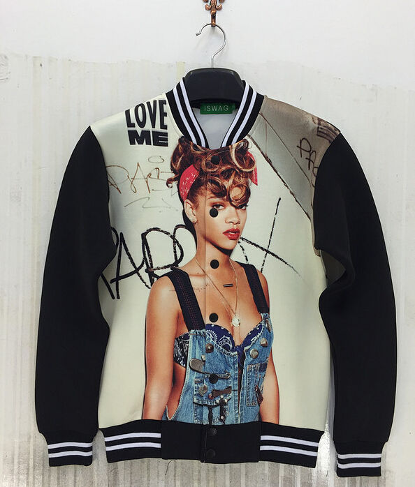 2014 men/women 3d jacket rihanna 3d printed jacket casual sport coat s/m/l/xl