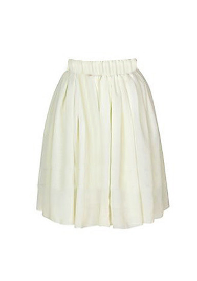 Chiffon Short Skirt - Ivory