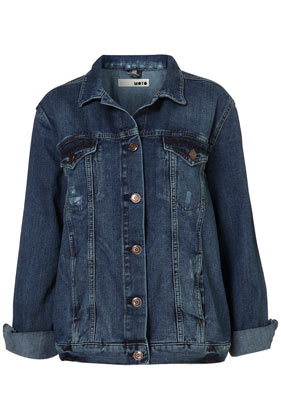 MOTO Oversize Denim Jacket - Jackets & Coats  - Clothing  - Topshop