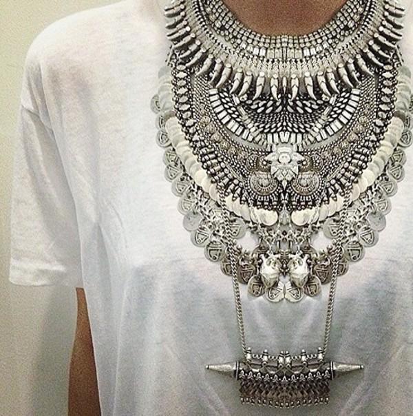 jewels gypsy necklace silver necklace metal sparkle glitter diamonds long dress slit grad dress