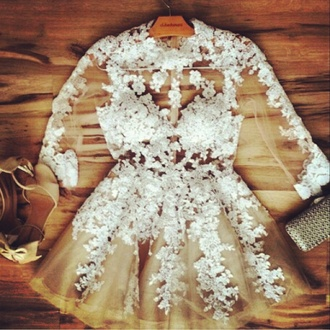 beige dress white dress
