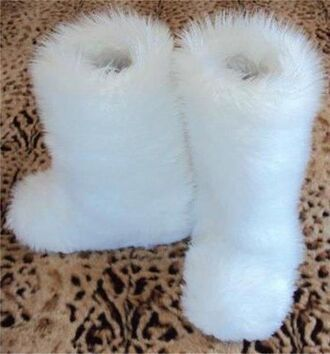 shoes furry boots