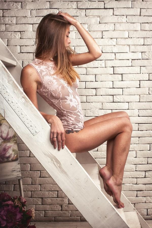 Wedding Lingerie, Light ivory lace bodysuit, see through bodysuit ...