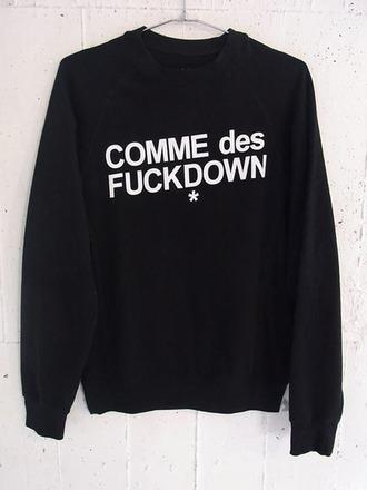 sweater style swag comme des fuckdown hoodie black hoodie mens sweater dope wishlist