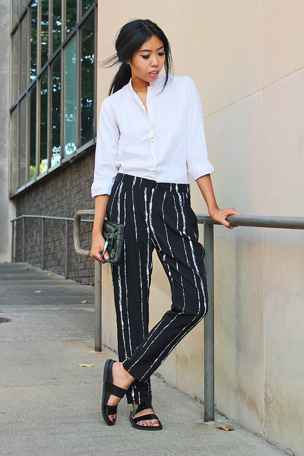 fashion of a novice blogger top bag pants