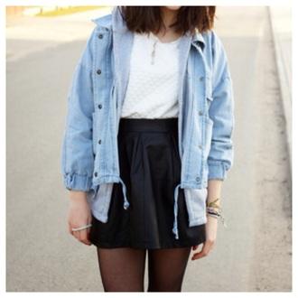 sweater clothes fashion jacket cute hoodie denim jacket kawaii fall outfits girly coat
