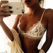 underwear,white,lace,lace top,lace bralette,white lace bralette,sexy,sexy lace bralette,sexy crop top,sexy lingerie,preppy,triangl,triangle,sheer,sheer top,see through,see through top,mesh,mesh top,preppy bralette,casual,casual bralette,women,girly,girly wishlist,tight,bodycon,floral,floral lace,white lace,eyelash lace,eyelashes,cool,hot,cute,cute top,american apparel,casual women,tumblr,tumblr top,tumblr lingerie,tumblr bikini,sexy bikini,sexy bralette,fashion,fashion toast,fashion vibe,fashionista,a fashionista,preppy fashionist,fashion coolture,fashion inspo,hot style,moraki,fashion is a playground
