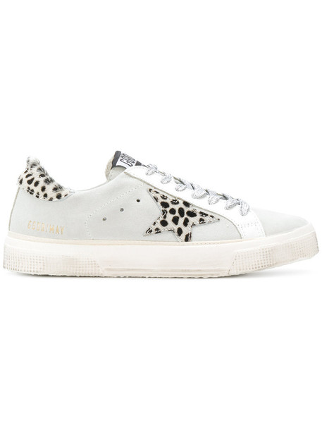 GOLDEN GOOSE DELUXE BRAND women sneakers leather cotton suede grey shoes