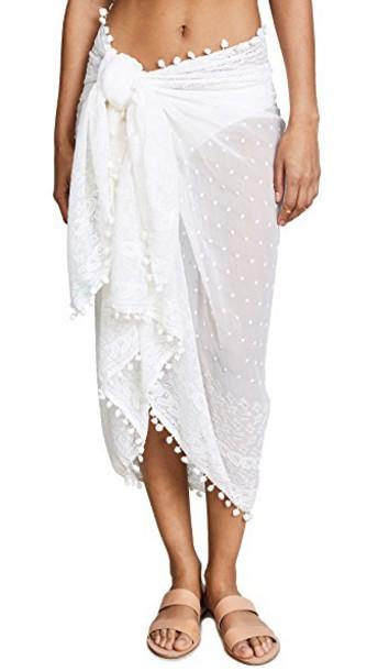 Melissa Odabash embroidered cream swimwear