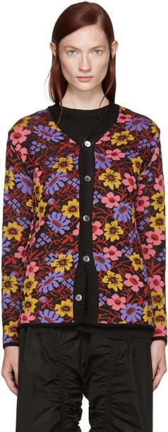 Comme Des Garçons Multicolor Two-way Floral Cardigan
