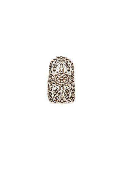 ring metallic silver