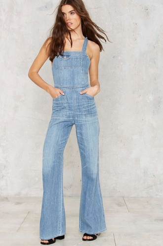 jumpsuit denim overalls blue