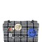 Medium avon plaid wool bag with pins