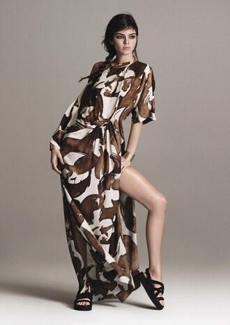 dress maxi dress kendall jenner model sandals
