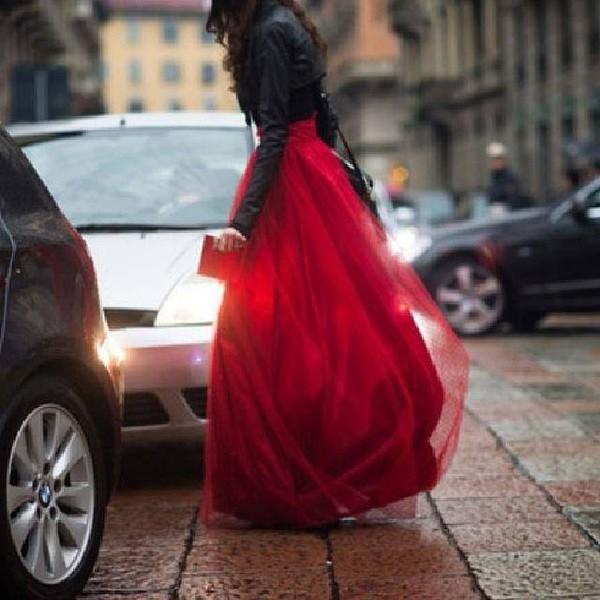 skirt prom worthy funny red black tulle skirt girly