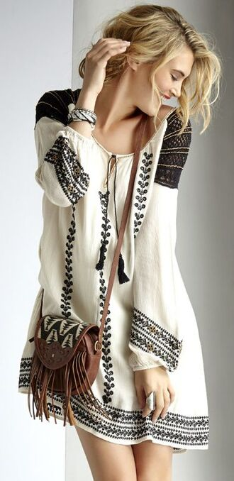 boho shirt boho dress boho hippie dress fashion boho chic dress partisan boho smock dress hippie bellsleeve dress bag hipster indie grunge bohemian festival jacket home accessory belt boho tassel white black bohemian mini dress summer black and white dress