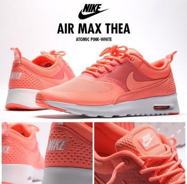 womens nike air max thea atomic pink/white