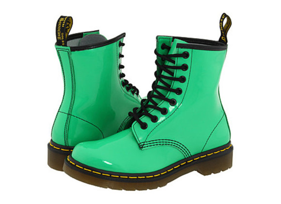shoes mint green dr.martens