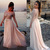 Ivory Prom Dress with Glittering Beads, Sexy long sleeve Prom Dress, Chiffon Prom Dress with Sparking Bodice, #02016063 on Storenvy