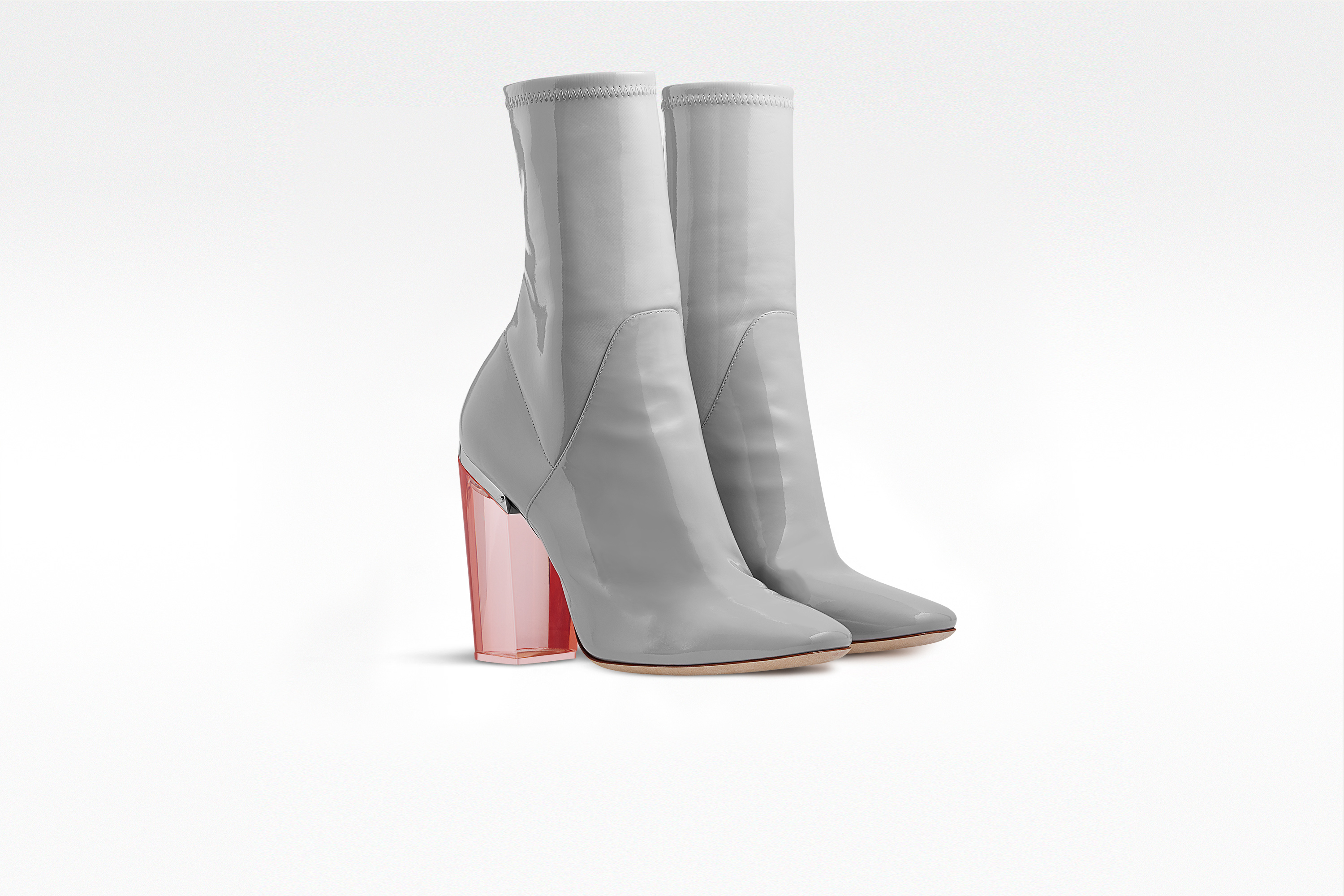 Pink Ankle Boots Heels