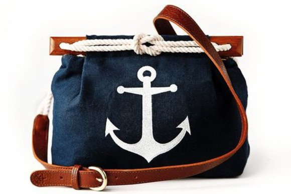 anchor bag preppy deep blue