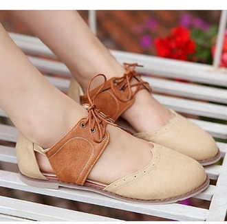 shoes oxfords cut out cute lace up