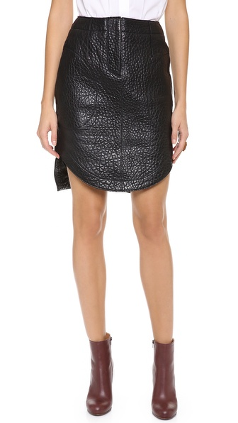 carven leather skirt shopbop use code inthefamily25