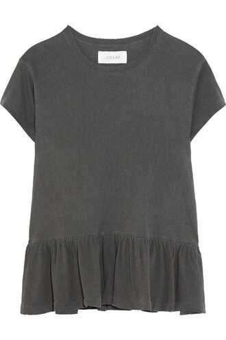 t-shirt shirt ruffle cotton top