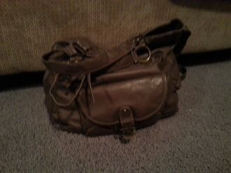 bag lether bag and it coasts 25$ at winners