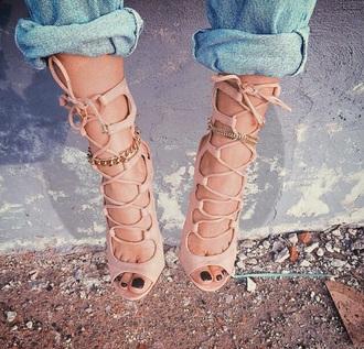 shoes high heels nude heels high heel sandals style