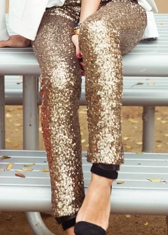 Sequined glitter leggings