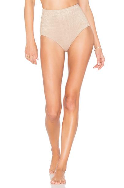 Zimmermann bikini high waisted bikini high waisted high metallic neutral swimwear