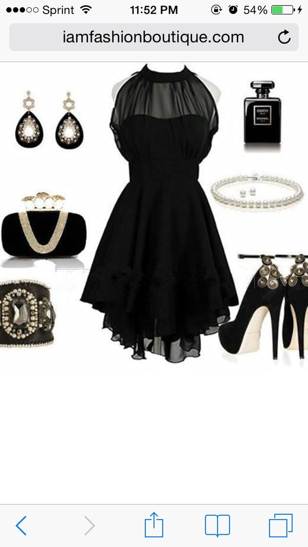 dress black cocktail dress
