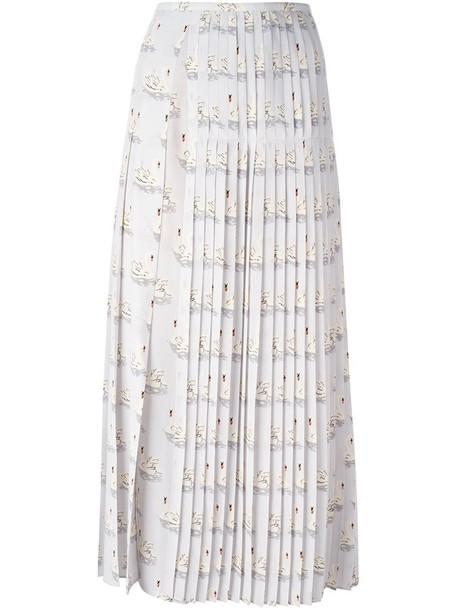 Stella McCartney skirt women print silk grey