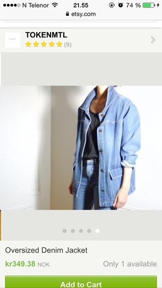 jacket blue jacket blue jacket+ denim jacket oversized jacket blue denim jacket boyfriend denim