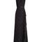 V-neck polka-dot print silk-georgette gown