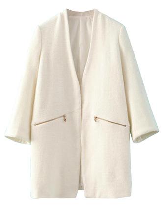 jacket sale outerwear off-white zip open front brenda-shop wool coat trendy warm winter outfits