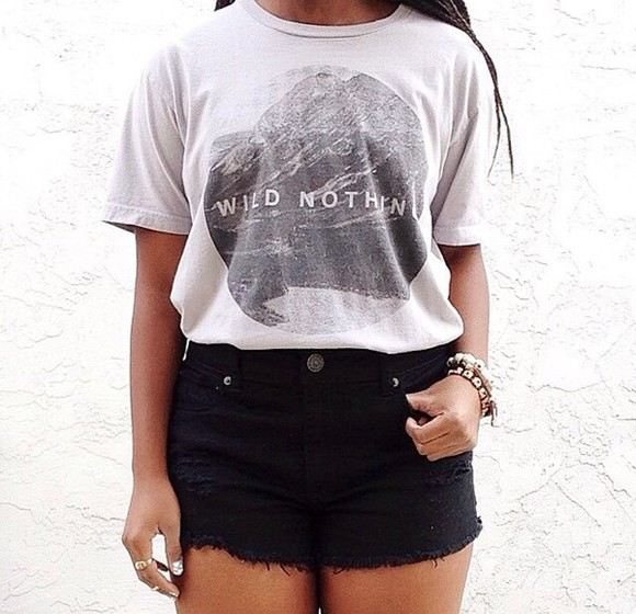 hipster style t-shirt wild nothing summer outfits teen fashion hipster fashion summer style teen style teen