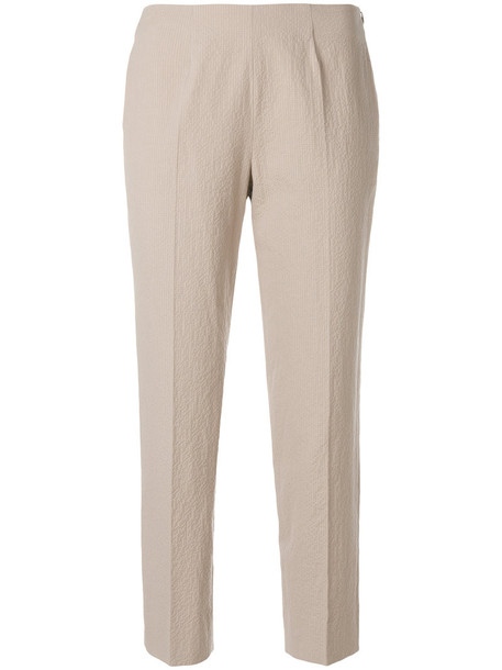 Piazza Sempione cropped women spandex nude cotton pants